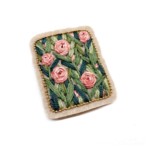 Romantic Floral Patch 01  - Hand stitched