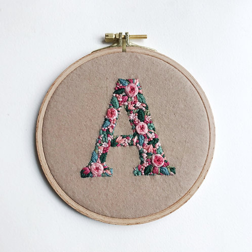 Custom Initial Embroidery for Annelie- UNFINISHED LETTER