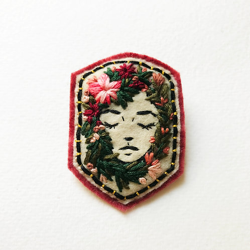 Floral Girl Brooch