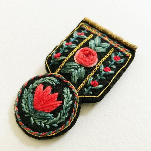 Floral Medal Brooch 01