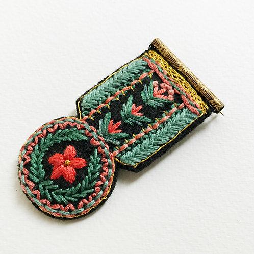 Floral Medal Brooch 02
