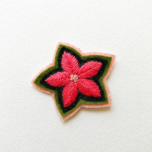 Floral Patch No 6  - Hand embroidered patch