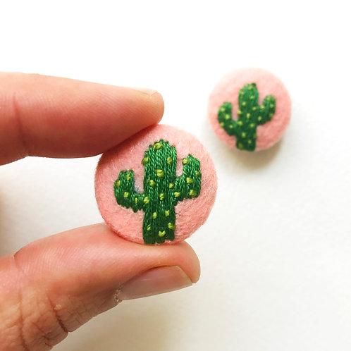 Tiny cactus button set- 1