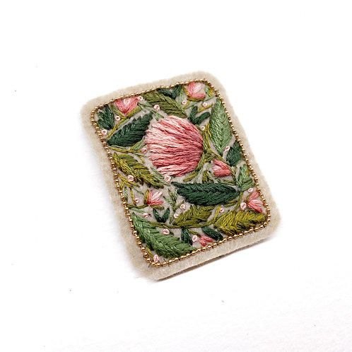 Romantic Floral Patch 03  - Hand stitched