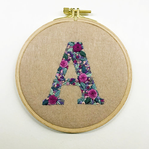 Custom Initial Embroidery for Angela