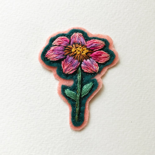 Floral Patch No 7 - Hand embroidered patch