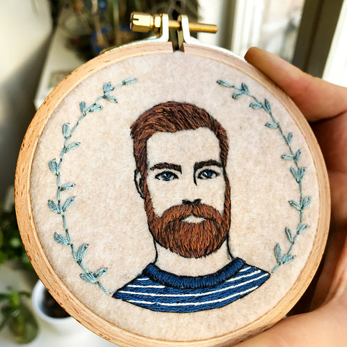 Reserved for Rachael - Embroidered Portrait