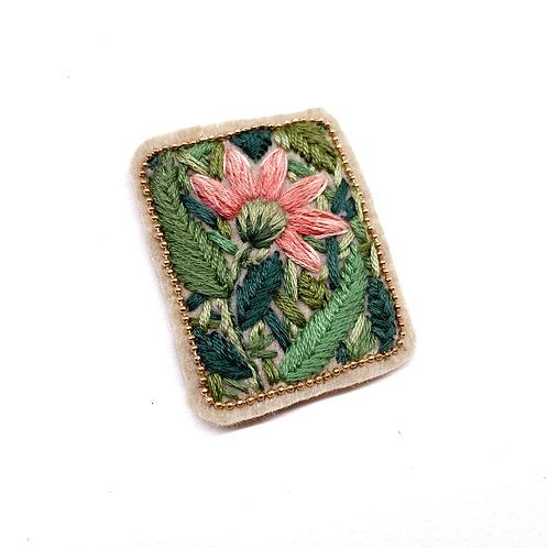 Romantic Floral Patch 02  - Hand stitched