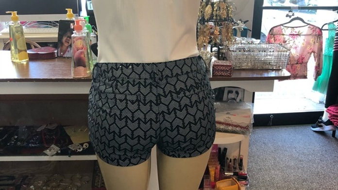 Black & White Geometric Shorts