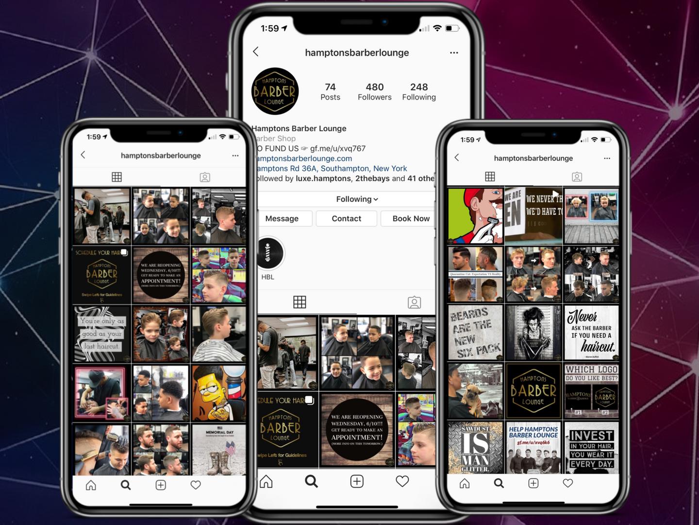 Hamptons Barber Lounge Instagram