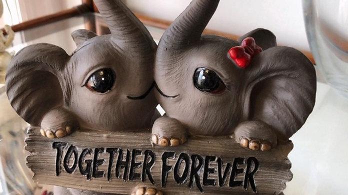 Elephant Together Forever Figurine