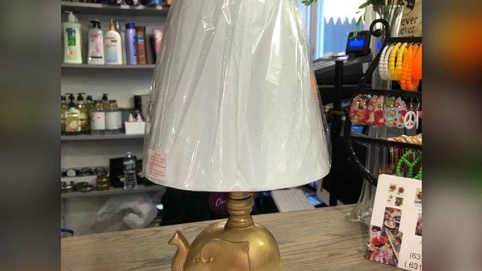 Elephant Gold Lamp