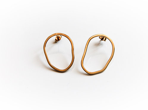 Boucles d'oreilles Nabia XL argent 925 plaqué or