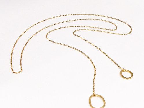Collier lasso Shango argent 925 plaqué or