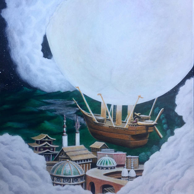 """""""Moonship"""" SOLD. Prints available soon"""