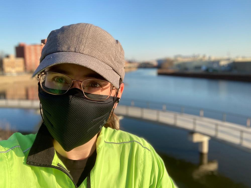 Alison's selfie during her run