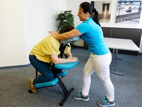 Abtauchen und entspannen - Chair Massage von weve.ch