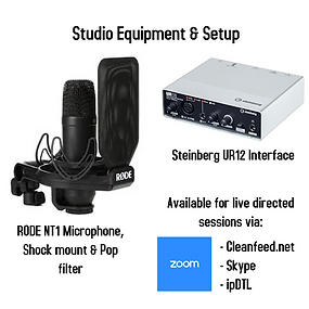 Studio equipment and setup info for webs