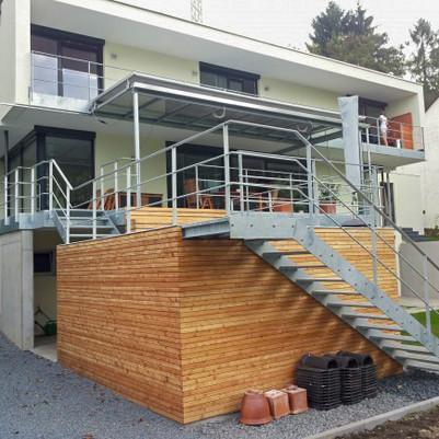 Geräteraum, Treppen, Geländer