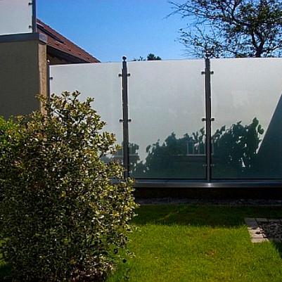 Glasgeländer/Sichtschutz