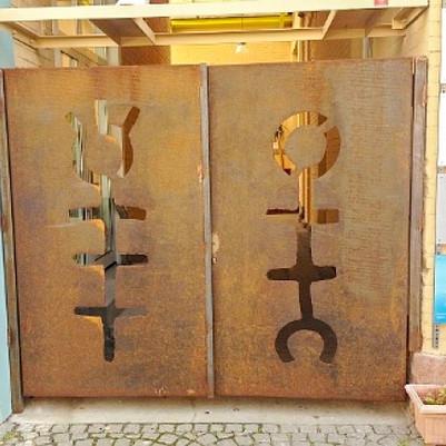Eingangstoranlage Stahl roh