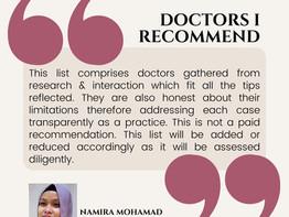 Doctors I Recommend 🙌