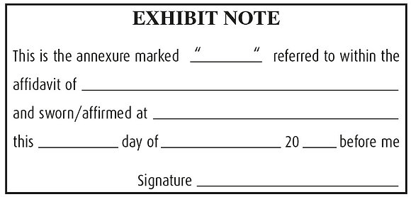 #5 Exhibit Note