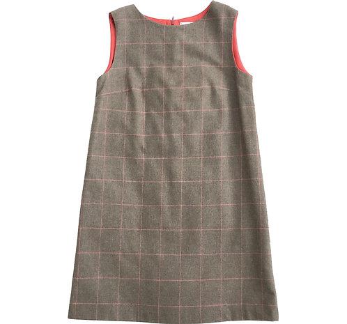 Wool Check Shift Dress