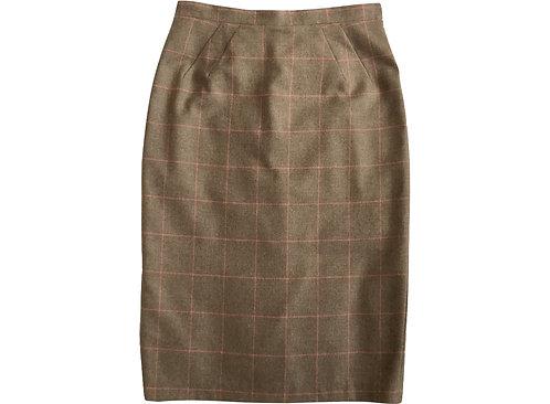 Wool Check Pencil Skirt