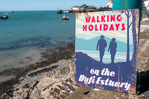 Walking Holidays On The Dyfi Estuary Sign