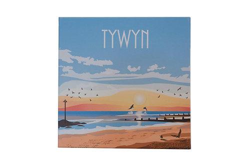Tywyn Sunset canvas Print