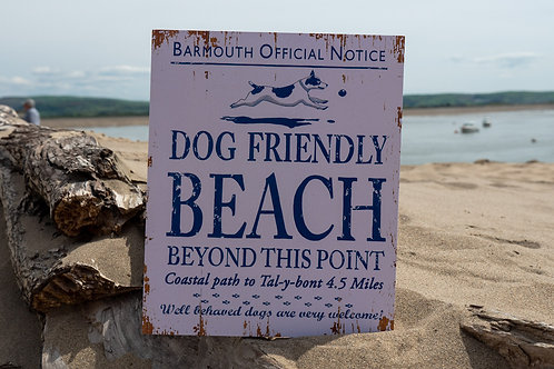 Barmouth Dog Friendly Beach Sign