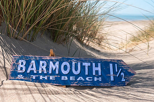 Barmouth 1 1/2 Mile Sign