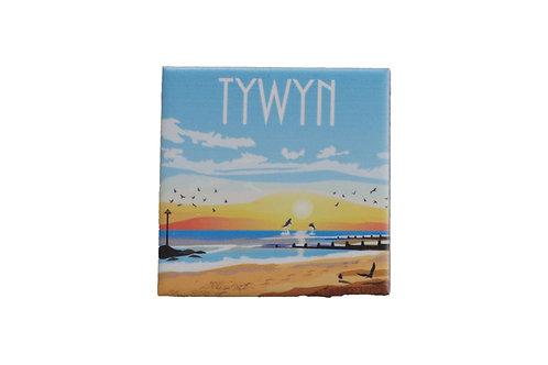 Tywyn Ceramic Fridge Magnet