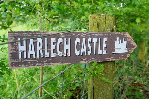 Harlech Castle Sign