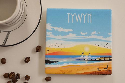 Tywyn Ceramic Coaster