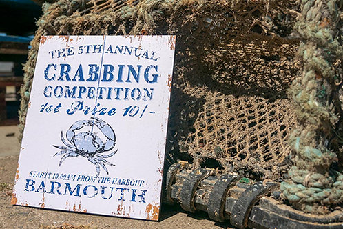 Barmouth Crabbing Competition Sign
