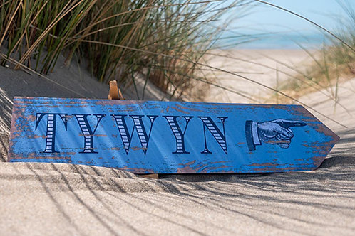 Tywyn This Way Sign