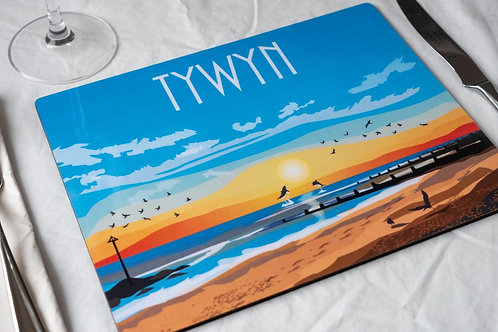 Tywyn Sunset  Wooden Table Matt