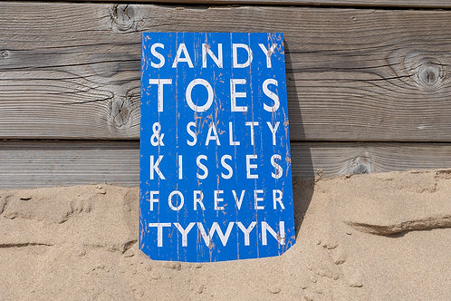 Tywyn Sandy Toes & Salty Kisses Sign