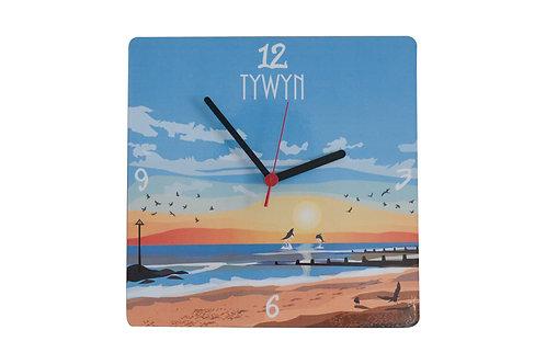 Tywyn Sunset Wall Clock
