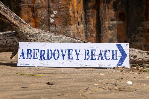 Aberdovey Beach Sign