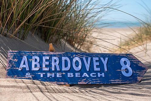 Aberdovey 8 Mile Sign