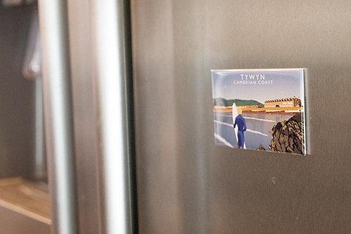 Tywyn Beach Fridge Magnet
