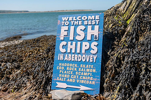 Fish & Chips in Aberdovey Sign