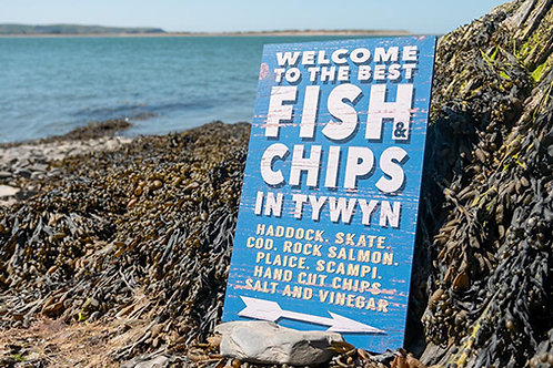 Tywyn Fish & Chips Sign