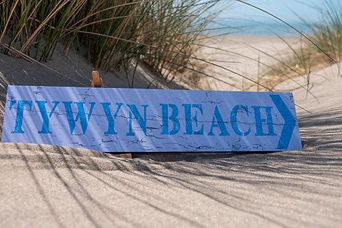 Tywyn Beach Sign