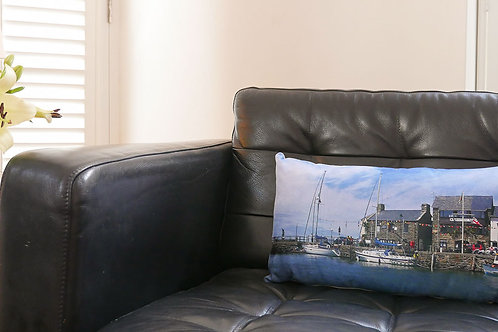 Barmouth Harbour Cushion