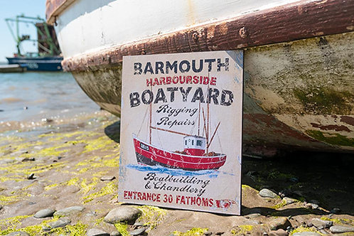 Barmouth Harbourside Boatyard Sign