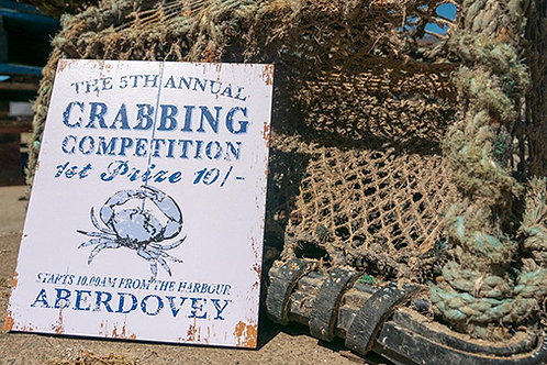 Aberdovey Crabbing Competition Sign